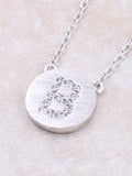 Circle Initial Necklace Anarchy Street - Silver B