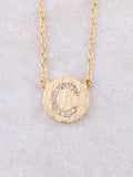 Circle Initial Necklace Anarchy Street Gold C