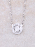 Circle Initial Necklace Anarchy Street Silver C