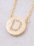 Circle Initial Necklace Anarchy Street - Gold D