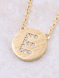 Circle Initial Necklace Anarchy Street - Gold E