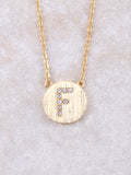 Circle Initial Necklace Anarchy Street Gold F