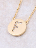 Circle Initial Necklace Anarchy Street - Gold F