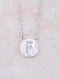 Circle Initial Necklace Anarchy Street Silver F