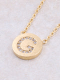 Circle Initial Necklace Anarchy Street - Gold G