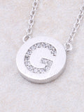 Circle Initial Necklace Anarchy Street - Silver G