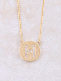 Circle Initial Necklace Anarchy Street Gold H