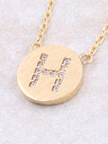 Circle Initial Necklace Anarchy Street - Gold H