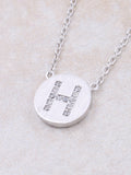 Circle Initial Necklace Anarchy Street - Silver H
