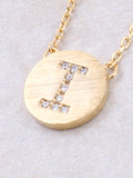 Circle Initial Necklace Anarchy Street - Gold I