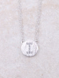 Circle Initial Necklace Anarchy Street Silver I