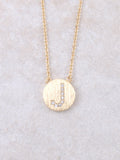 Circle Initial Necklace Anarchy Street Gold J