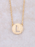 Circle Initial Necklace Anarchy Street Gold L
