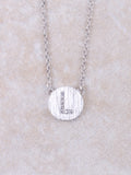 Circle Initial Necklace Anarchy Street Silver L