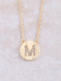 Circle Initial Necklace Anarchy Street Gold M