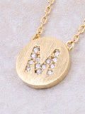 Circle Initial Necklace Anarchy Street - Gold M