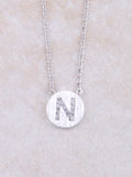 Circle Initial Necklace Anarchy Street Silver N