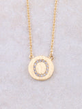 Circle Initial Necklace Anarchy Street Gold O