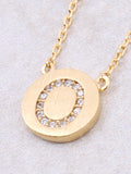 Circle Initial Necklace Anarchy Street - Gold O