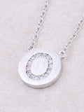 Circle Initial Necklace Anarchy Street - Silver O