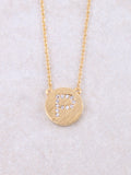 Circle Initial Necklace Anarchy Street Gold P