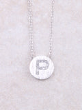 Circle Initial Necklace Anarchy Street Silver P