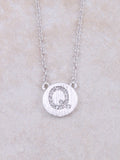 Circle Initial Necklace Anarchy Street Silver Q