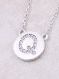 Circle Initial Necklace Anarchy Street - Silver Q