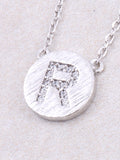 Circle Initial Necklace Anarchy Street - Silver R