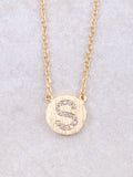 Circle Initial Necklace Anarchy Street Gold S