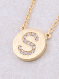 Circle Initial Necklace Anarchy Street - Gold S