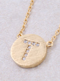 Circle Initial Necklace Anarchy Street - Gold T