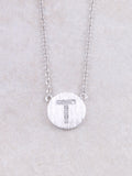 Circle Initial Necklace Anarchy Street Silver T