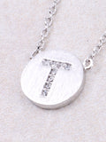Circle Initial Necklace Anarchy Street - Silver T