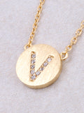 Circle Initial Necklace Anarchy Street - Gold V