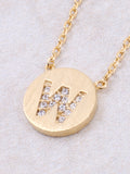 Circle Initial Necklace Anarchy Street - Gold W