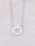 Circle Initial Necklace Anarchy Street Silver W