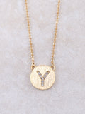 Circle Initial Necklace Anarchy Street Gold Y
