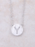 Circle Initial Necklace Anarchy Street Silver Y