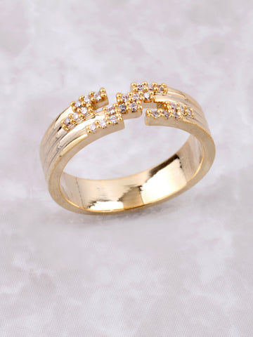 Puzzle Ring Anarchy Street Gold