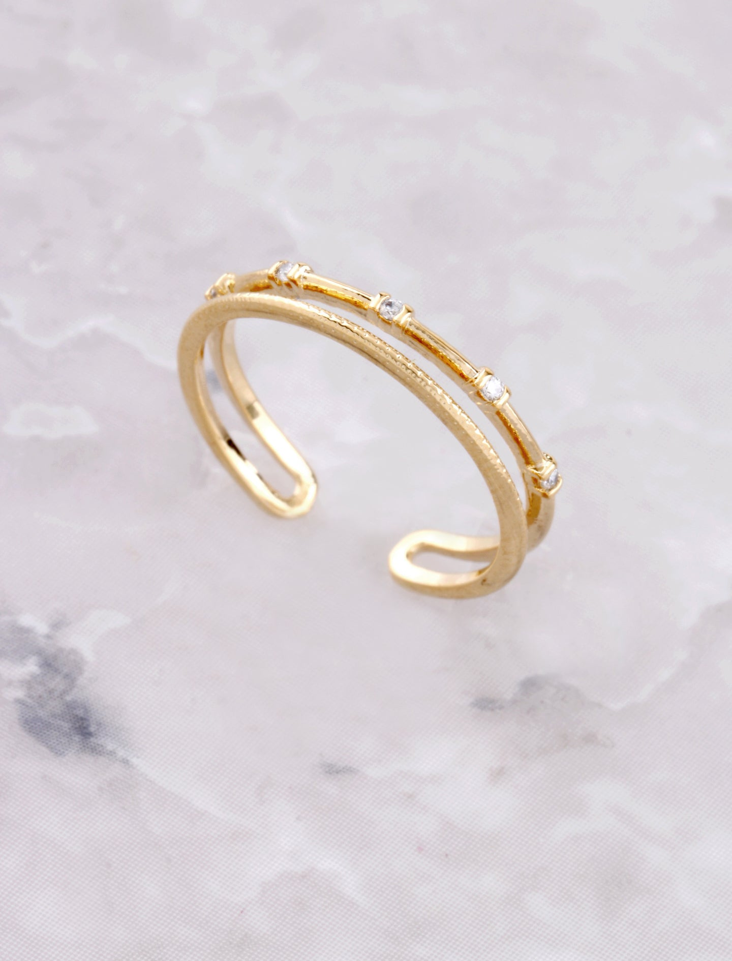 Dainty Studded Ring Anarchy Street Gold