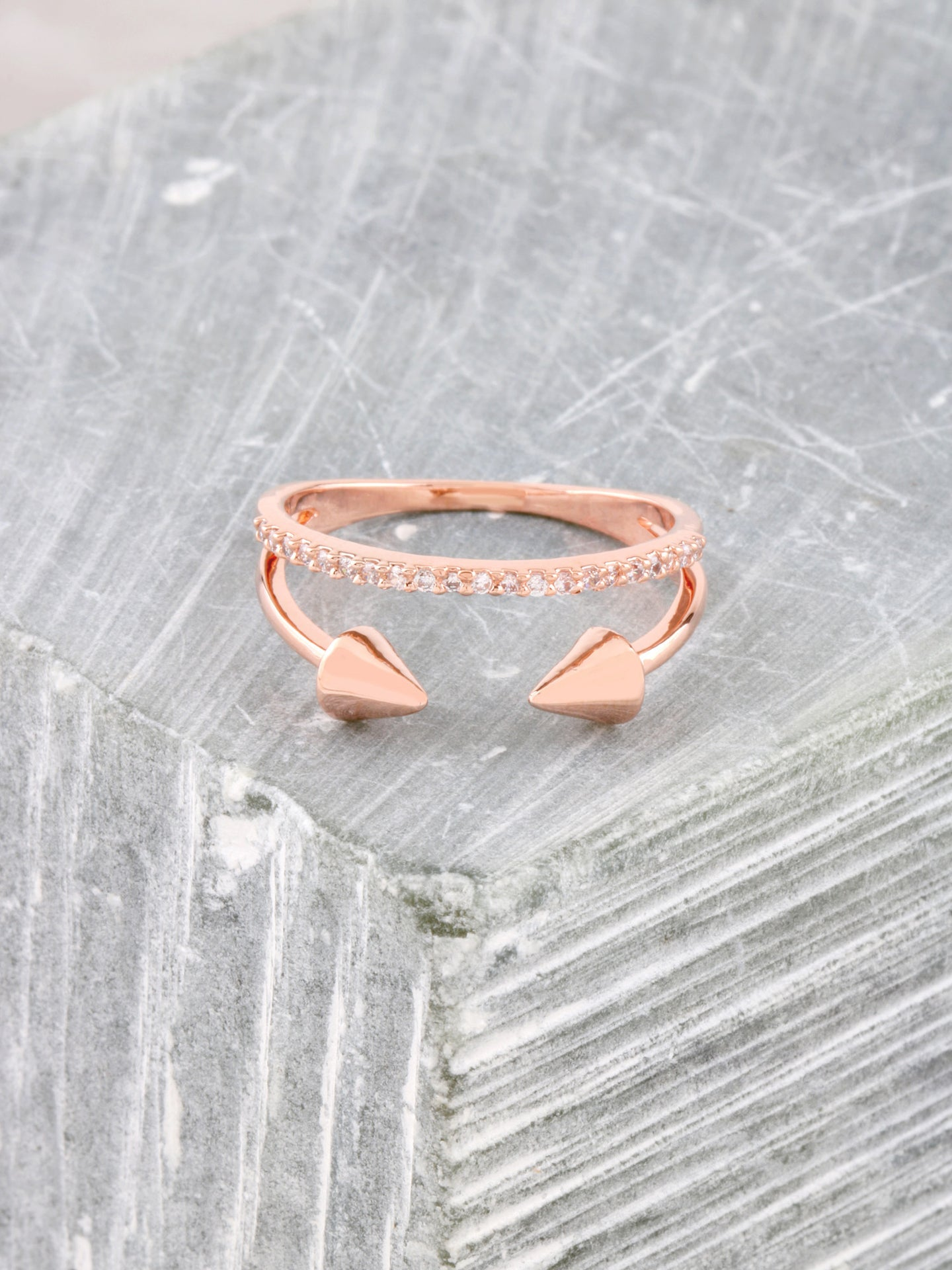 Rebel Ring Anarchy Street Rosegold