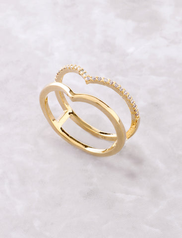 Double Peak Ring Anarchy Street Gold