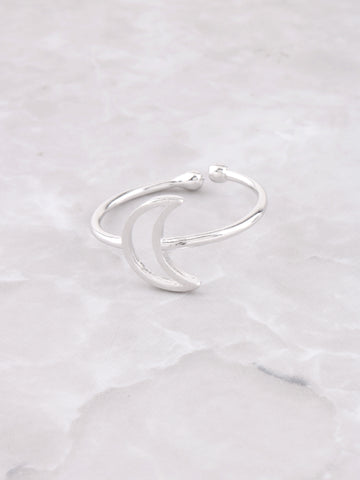 Hollow Moon Ring Anarchy Street Silver