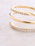 Spiral Pave Ring Anarchy Street Gold - Details