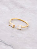 Double Baguette Ring Anarchy Street Gold