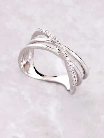 Pave Wavy Ring