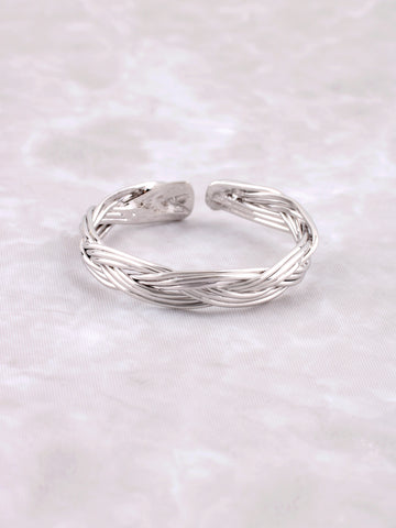 Braided Ring Anarchy Street Silver