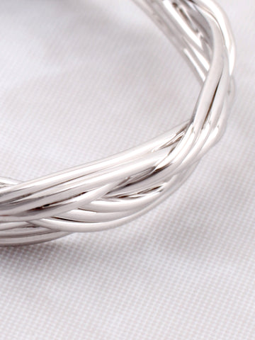 Braided Ring Anarchy Street Silver - Details