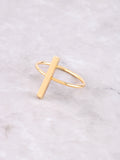 Straight Line Ring Anarchy Street Gold